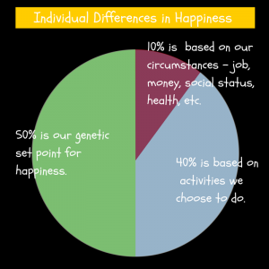 Happiness pie chart